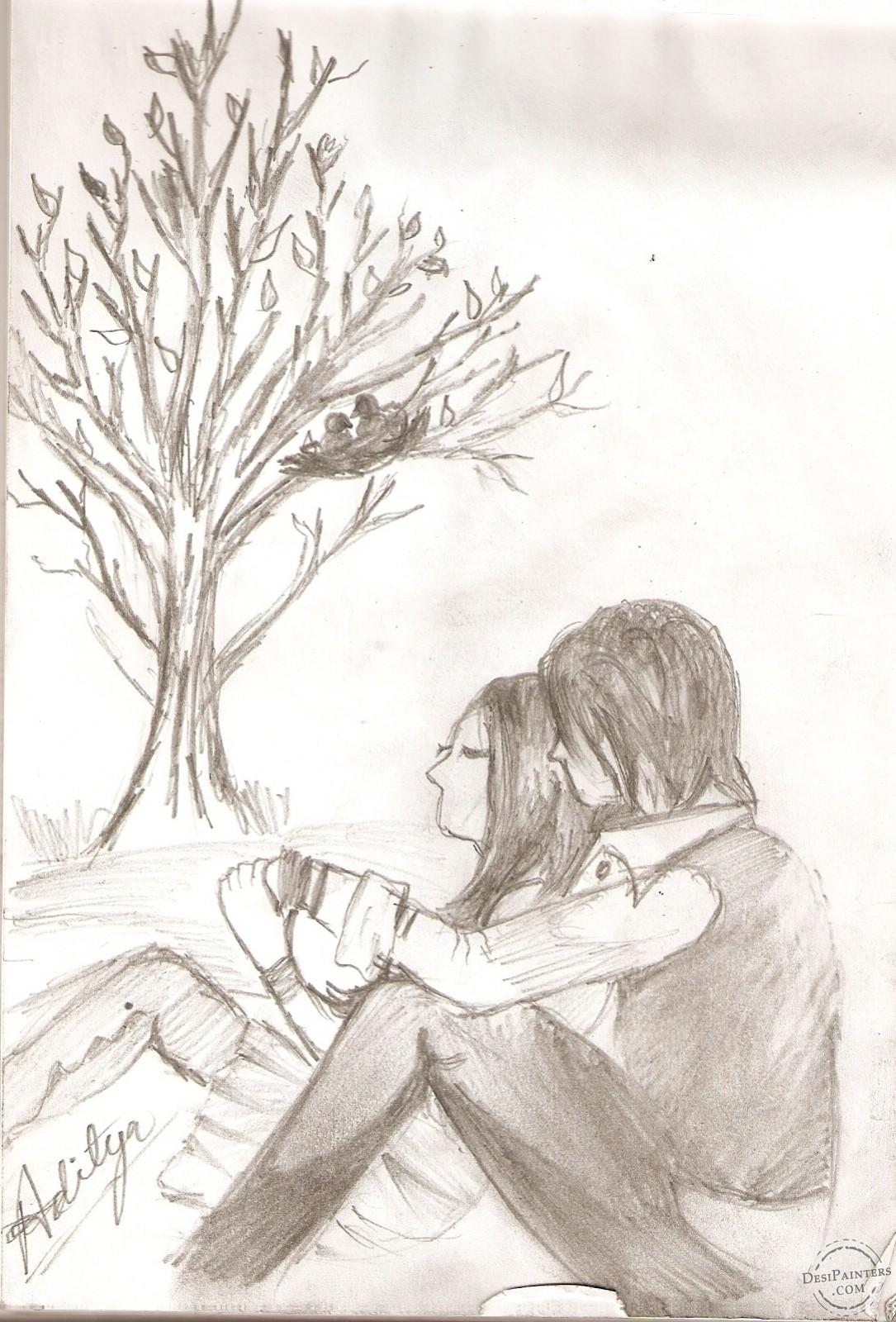 1085x1600 Emo Heart Drawings Emo Love Drawings In Pencil Httpwww