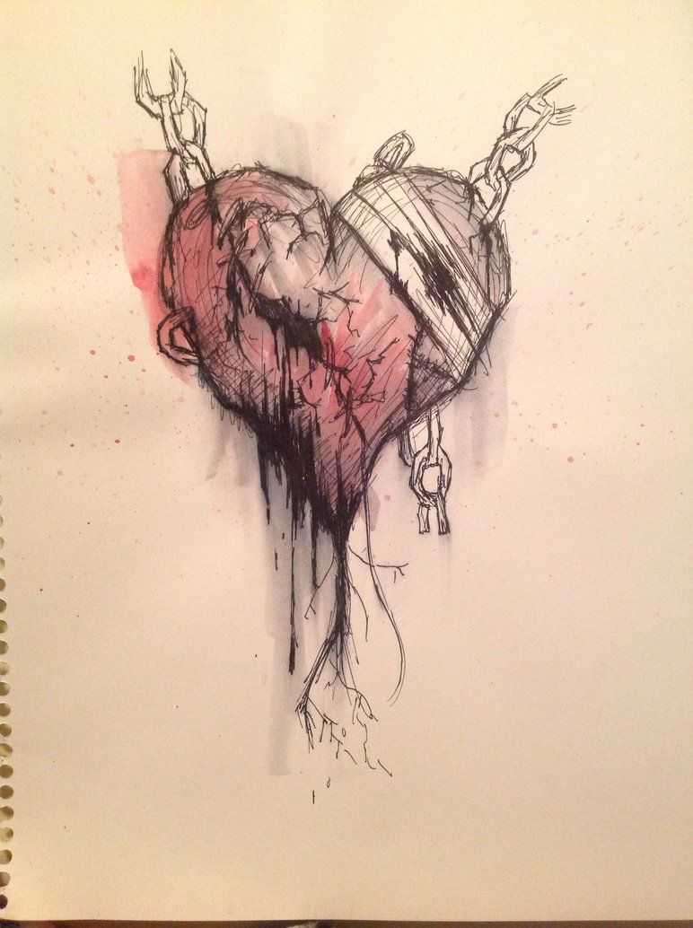 772x1034 Emo Heart Drawing
