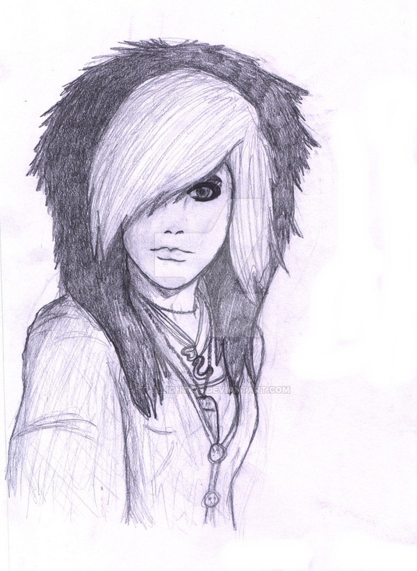 600x821 Emo Girl Sketch By Starlight679