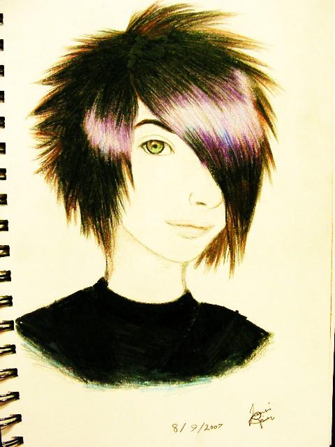 480x640 Older Drawing Of An Emo Kid By Rainsmile