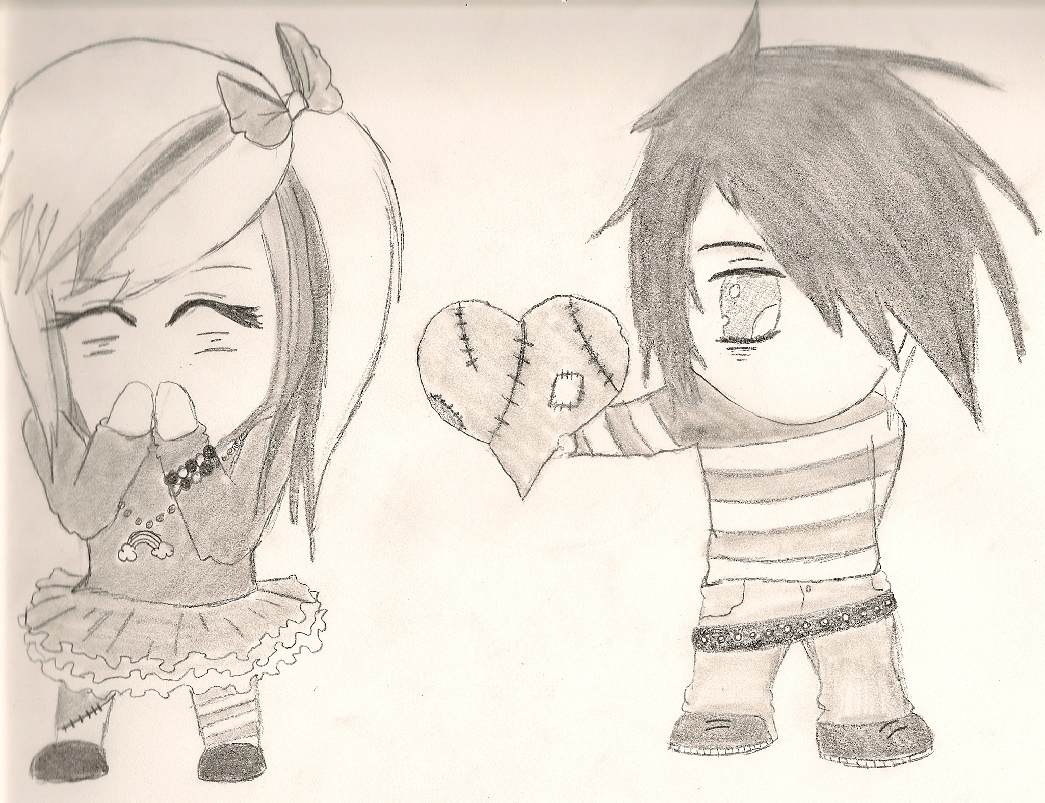 2050x1575 Cartoon Love Pencil Drawing Hd Image Emo Love Images And Wallpaper