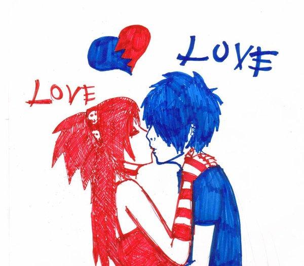 600x525 Emo Love By Dominoxtobi