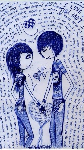 360x640 Emo Love Is So Cute Love Emo, Drawings And Emo Art