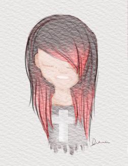 252x326 Watercolor Emo Girl By Deviantdey
