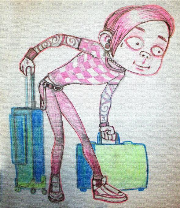 589x680 Emo Going On Vacation. Life People. Drawings. Pictures. Drawings