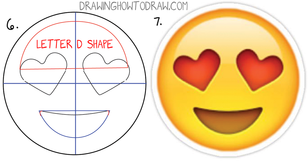 1000x523 How To Draw Heart Eyes Emoji Face Step By Step Drawing Tutorial
