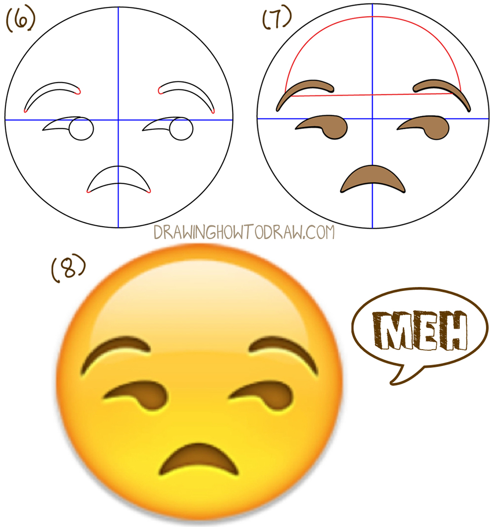 1000x1067 How To Draw Unamused Emoji Face Or Meh Face With Easy Drawing
