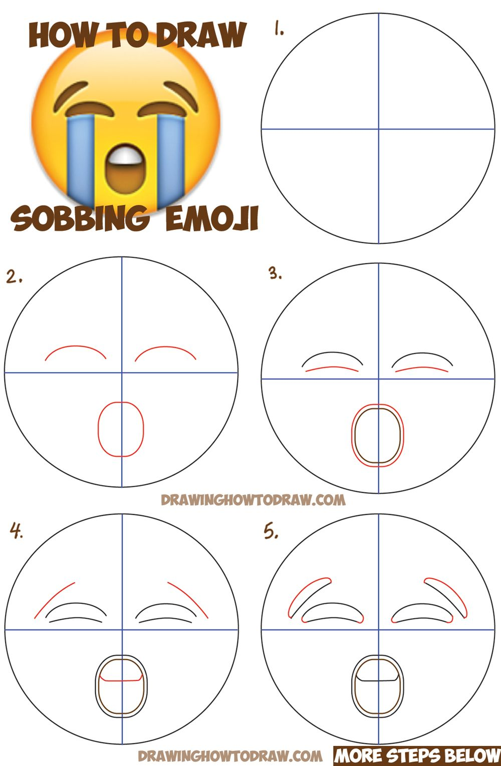 1000x1530 How To Draw Sobbing Crying Emoji Face With Easy Steps Lesson