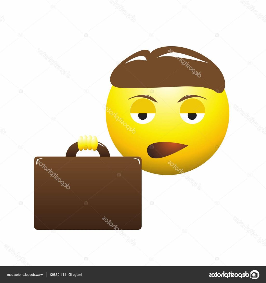 1024x1088 Best Free Stock Illustration Bored Business Man Emoticon Drawing