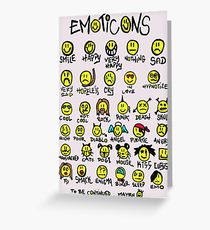 210x230 Emoticons Drawing Greeting Cards Redbubble