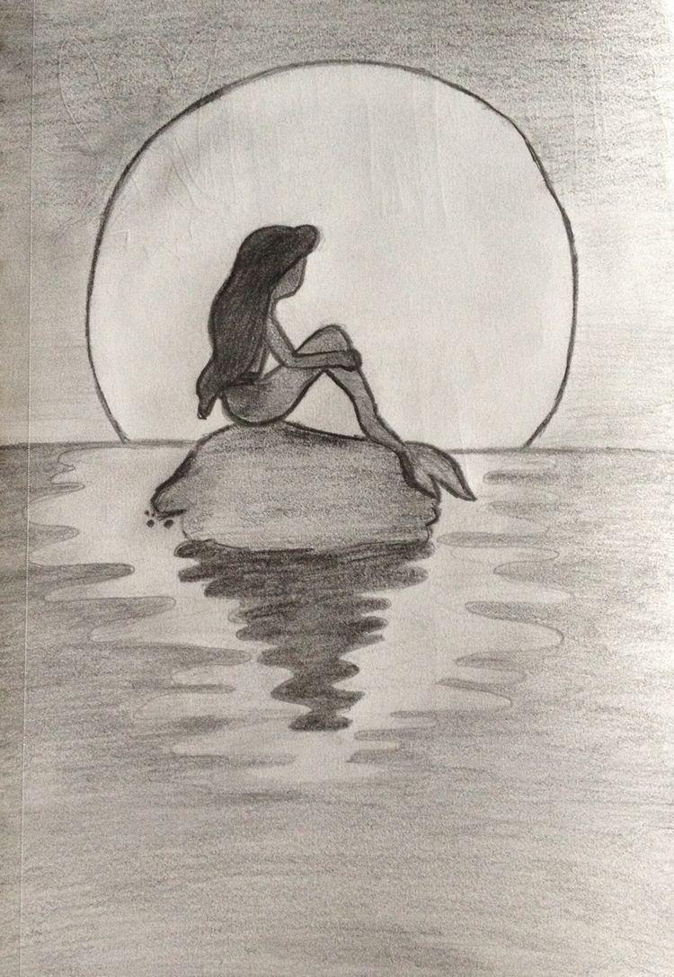 750x1087 best easy pencil sketch of mermaid 3d pencil drawings art ideas