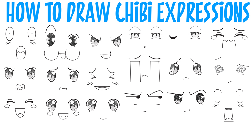 800x396 How To Draw Chibi Emotions And Expressions In Easy Step By Step