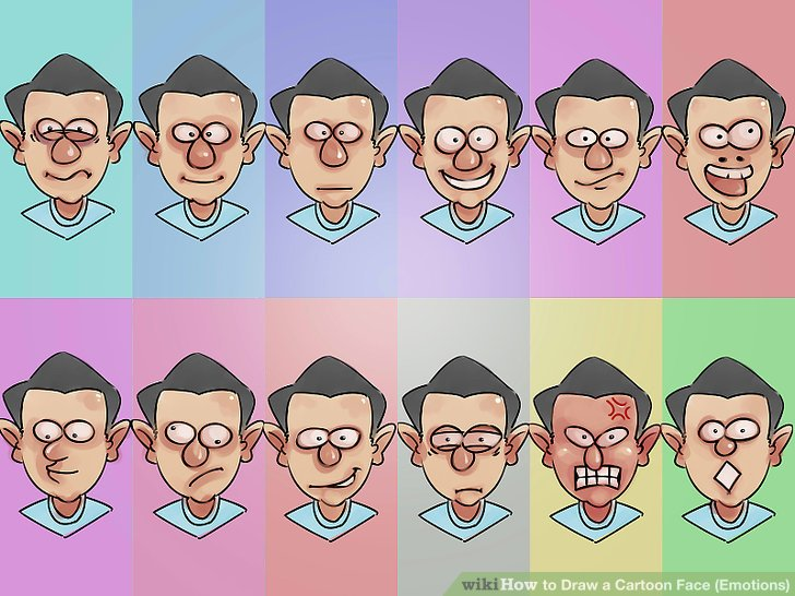 728x546 How To Draw A Cartoon Face (Emotions) 3 Steps (With Pictures)