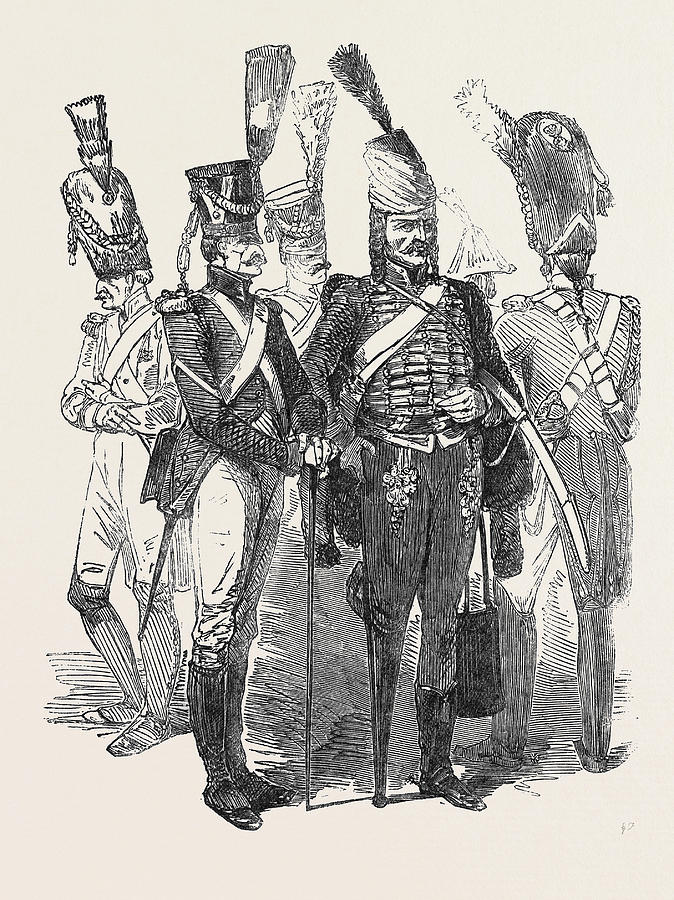 674x900 Old Soldiers Of The French Empire Drawing By English School