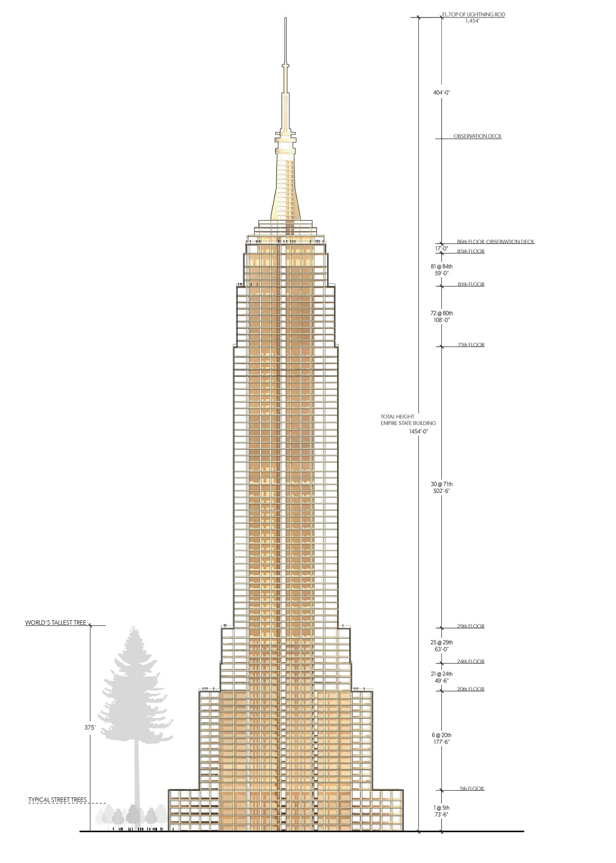 1199x1681 Empire State Building Architectural Drawings