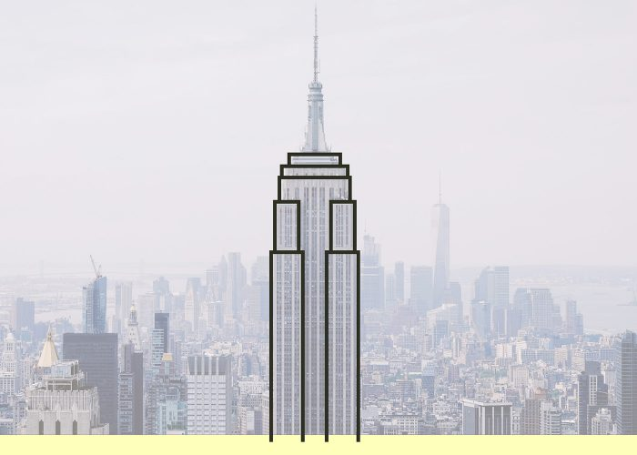 700x500 Empire State Building Line Art With Illustrator And The Shaper