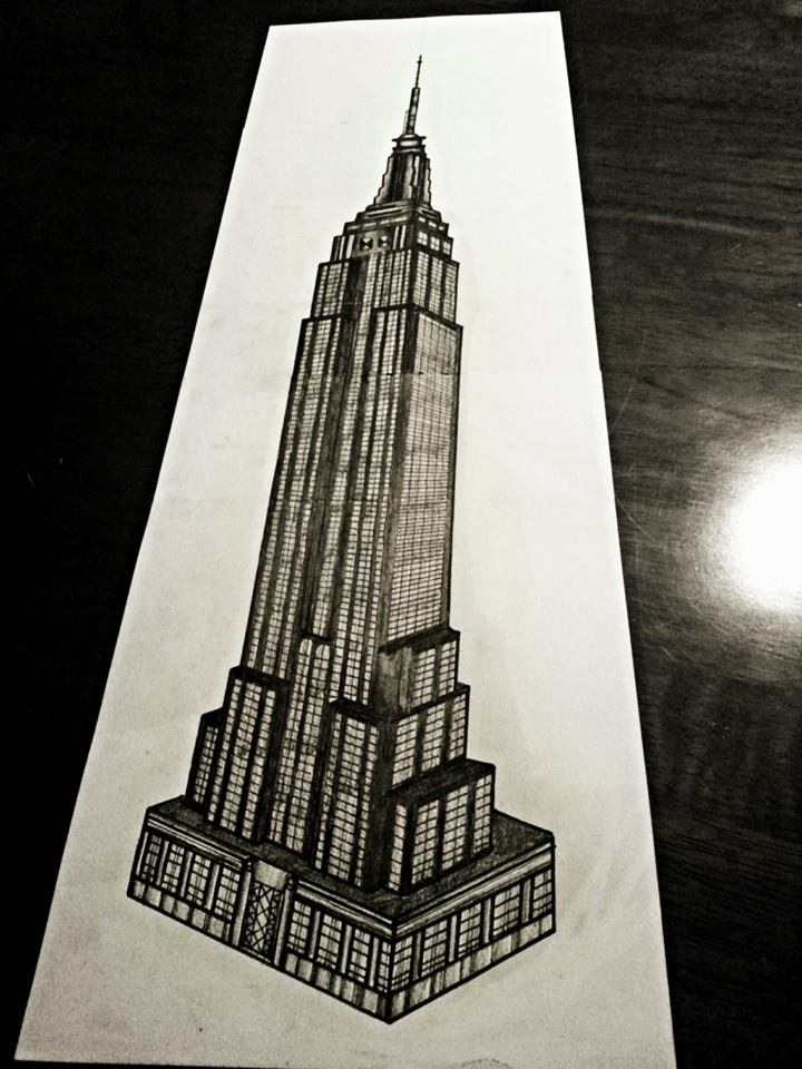 720x960 Sketch Of Empire State Building Architecture Sketches D