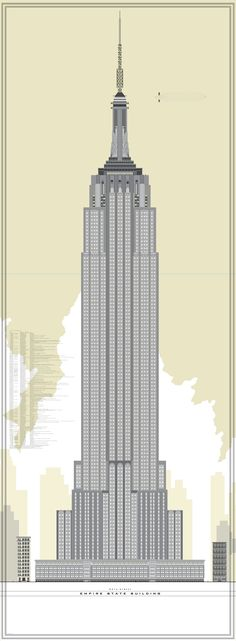 236x641 How To Draw The Empire State Building Empire State Building Step