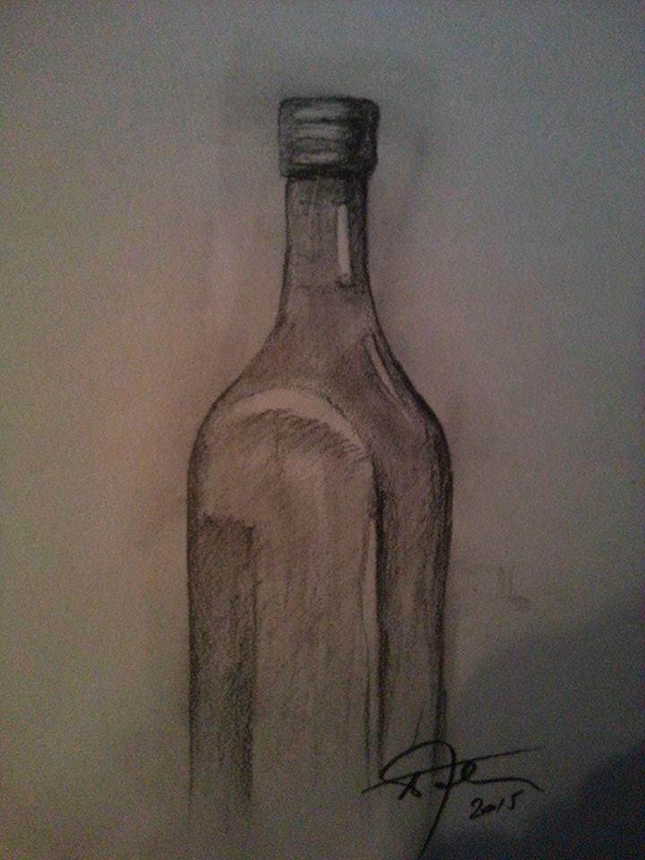 720x960 Empty Bottle Drawing By Afrim1968