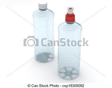 450x357 Empty Bottles Isolated On White Background Stock Illustration