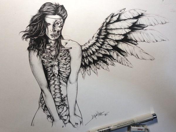 600x448 Angel Of Death By Spider Money, Via Behance Art