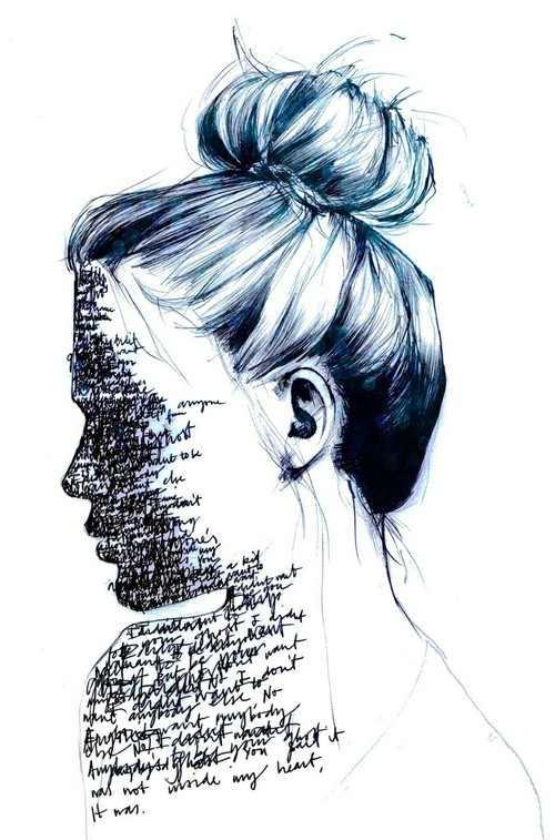 500x757 Broken, Depressed, Drawings, Empty, Feelings, Girl, Lonely, Words