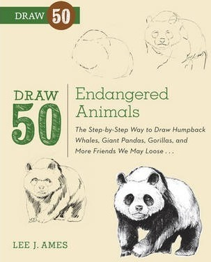 303x376 Draw 50 Endangered Animals Lee J. Ames 9780823086085