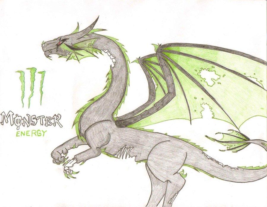 900x697 Zombie Monster Energy Dragon By Messyartwok