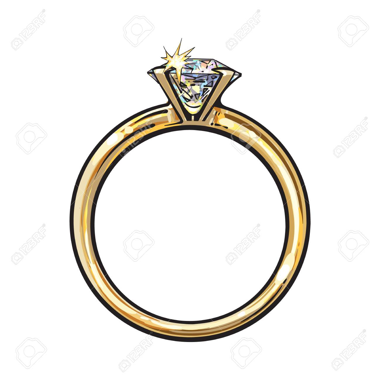 engagement jewellery gold golden ring diamond rings