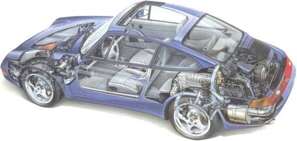 602x286 Car And Engine Drawing