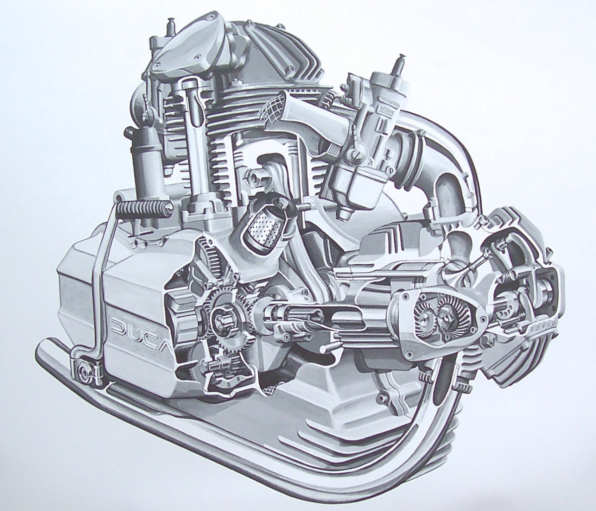 Engine Drawing at GetDrawings.com | Free for personal use Engine ...