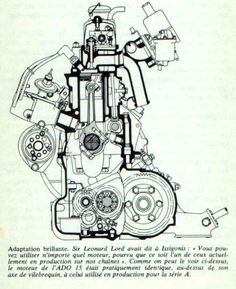 236x289 Engine Technical Drawing Technical Details, Photographs