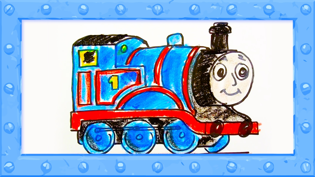 1280x720 How To Draw Thomas The Tank Engine Drawing And Colors Learning