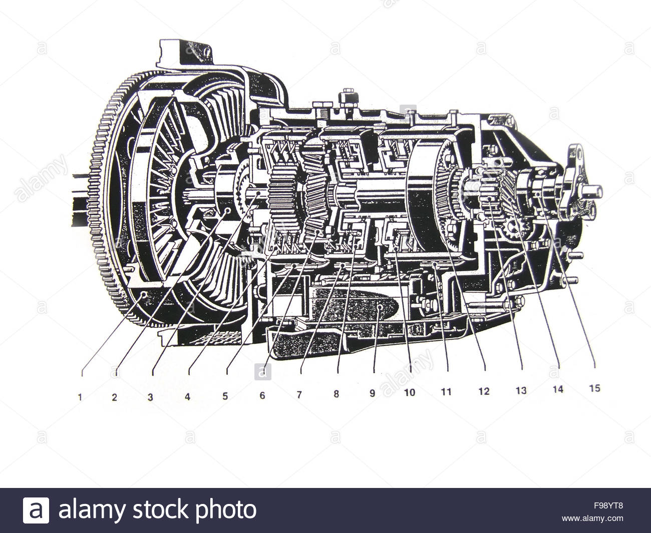 1300x1065 Car Engine Technical Draw On White Background Stock Photo