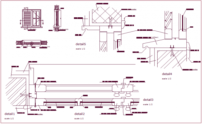 650x400 Detail Of Door With Sectional View Dwg File
