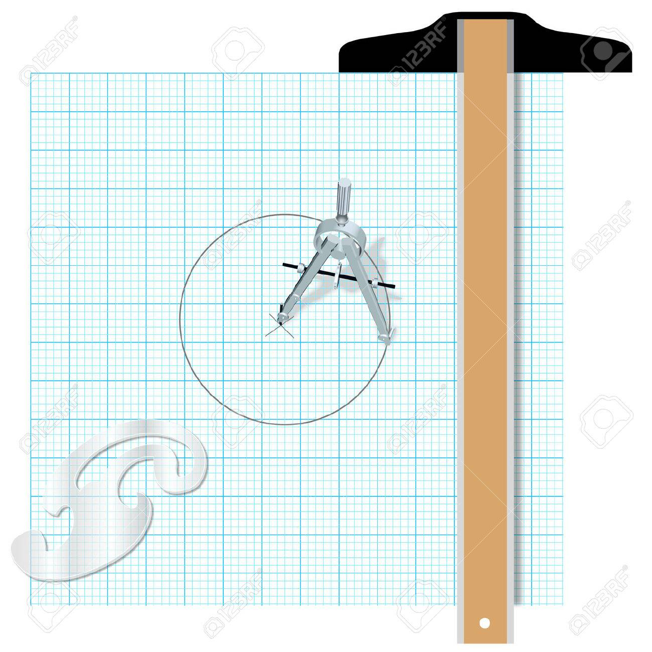 1300x1300 Drafting Design Tools Protractor T Square Compass Engineering
