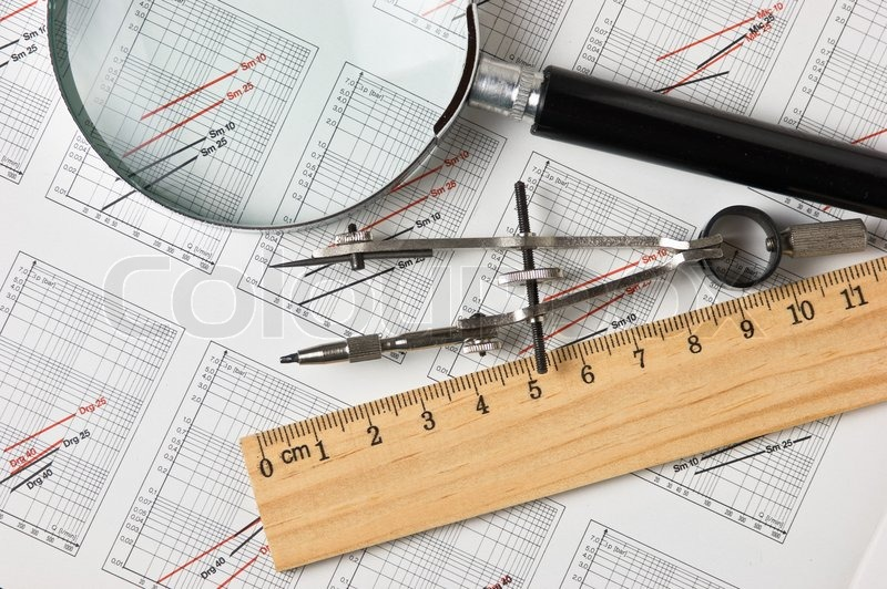800x532 Engineering Tools On A Technical Drawing Stock Photo Colourbox