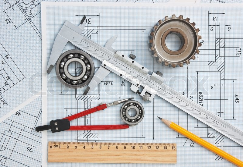 800x548 Technical Drawing And Tools Stock Photo Colourbox