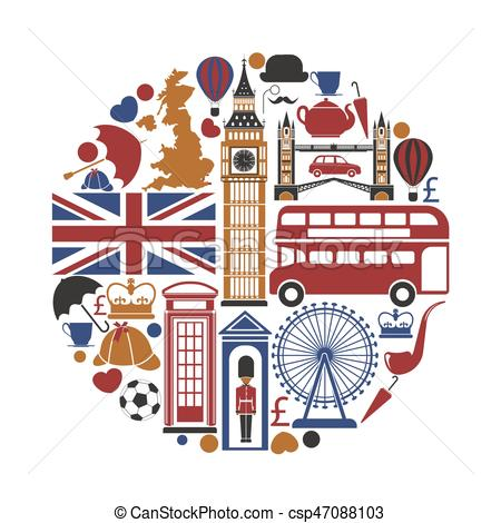 450x470 England Uk Travel Sightseeing Icons And Vector Landmarks Vector