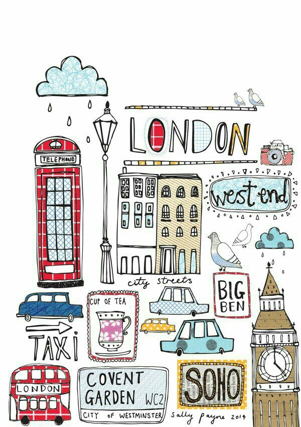 600x849 London Style Doodling London Style, Surface