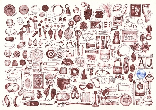 500x353 Andrea Joseph, Collection, Detail, Drawing, England, Everyday