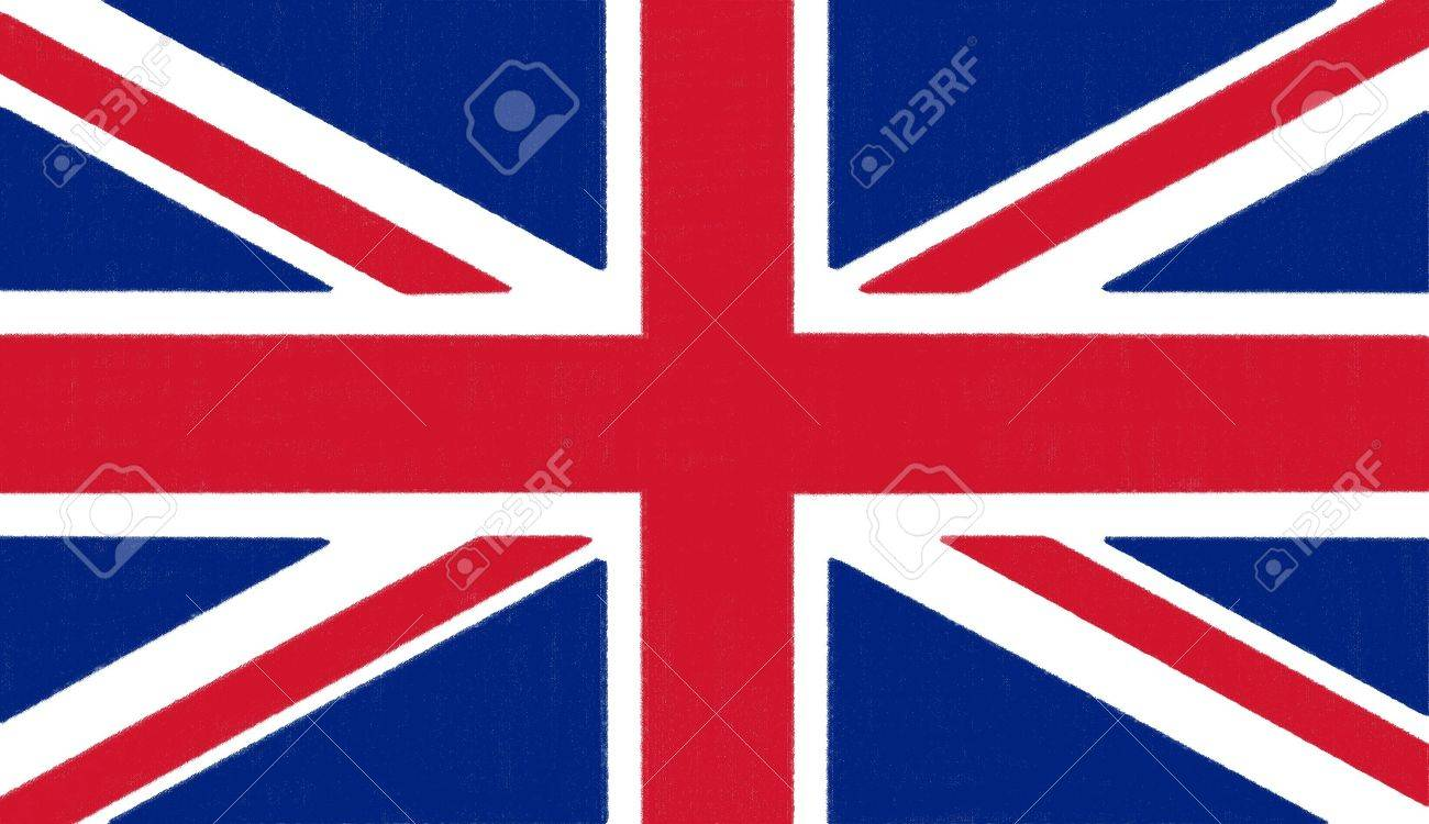 1300x750 England Flag Drawing By Pastel On Charcoal Paper Stock Photo
