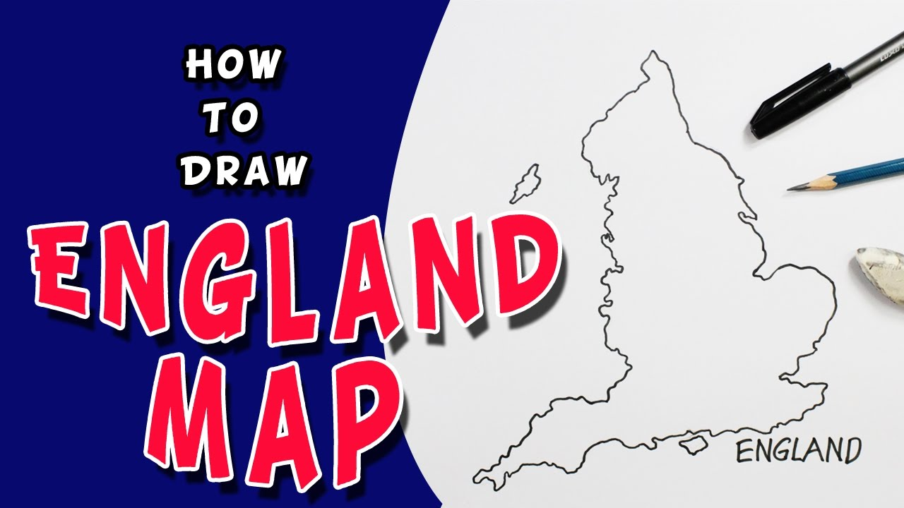 Kids Map Of England.England Map Drawing At Getdrawings Com Free For Personal Use