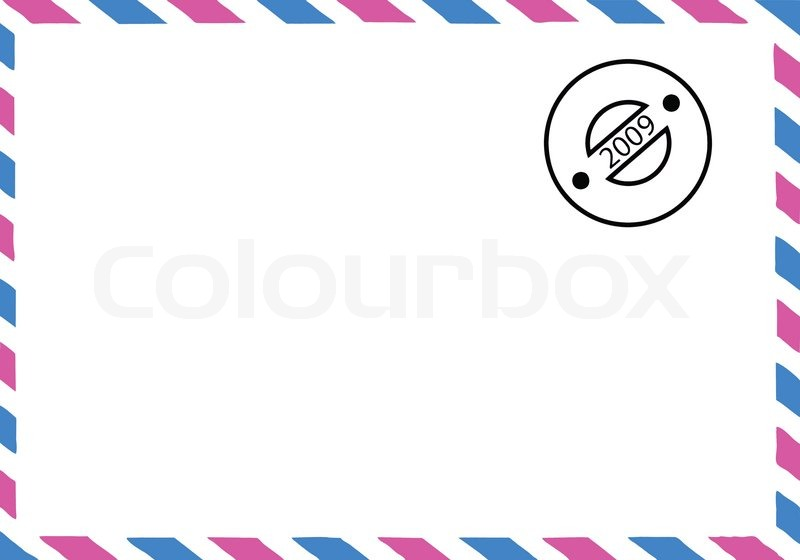 800x560 Vector Drawing Of The Old Postal Envelope Stock Vector Colourbox
