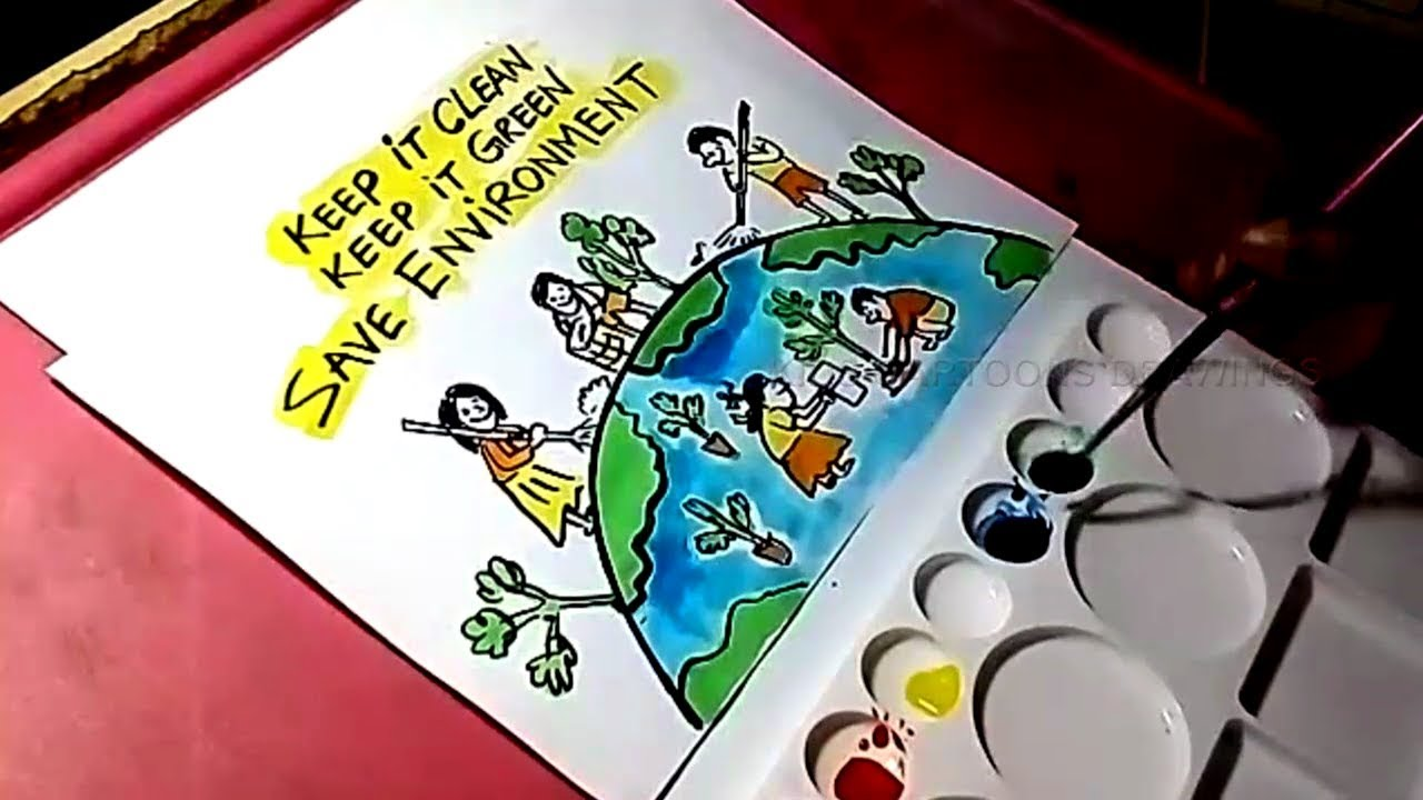 1280x720 How To Draw Save Environment Drawing For Kids