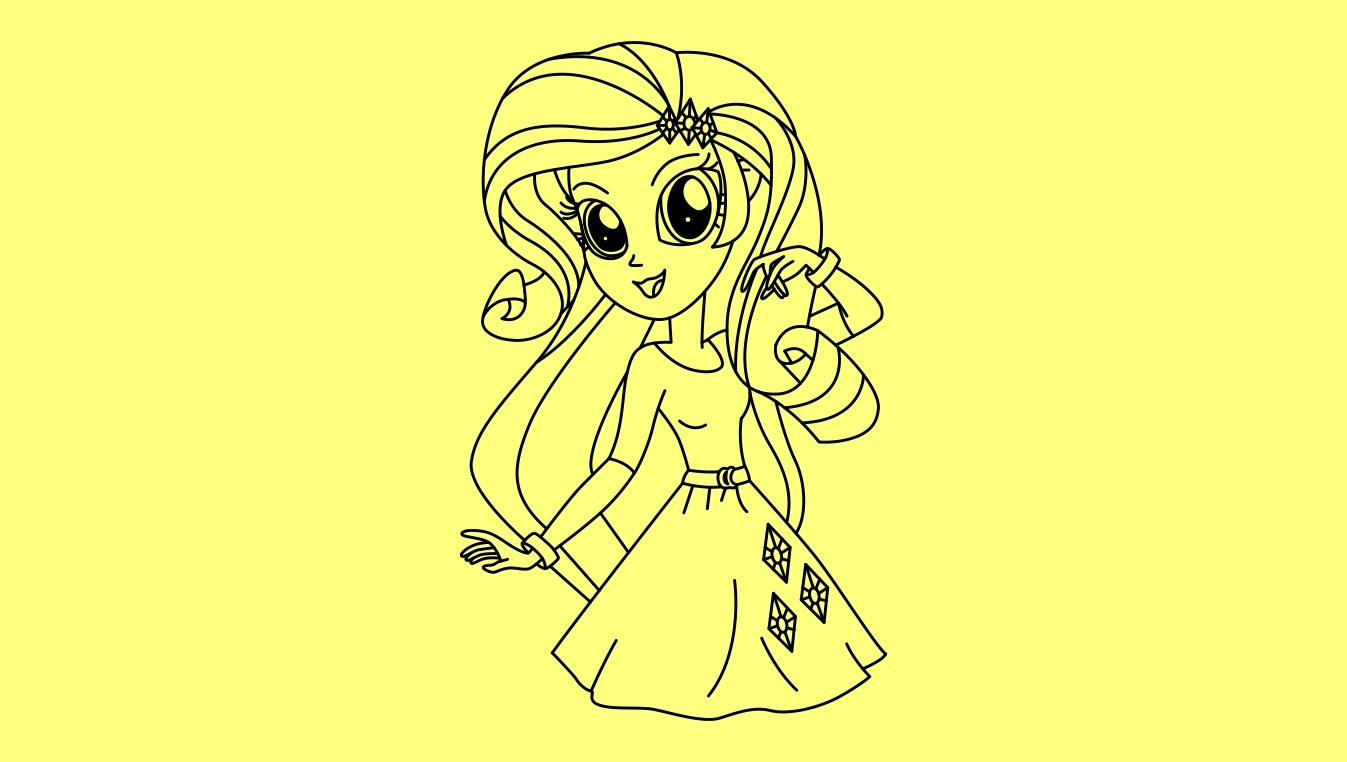 Equestria Girl Drawing At Getdrawings Com Free For Personal Use