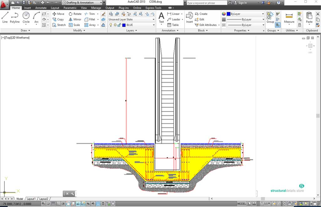 Escalator drawing at getdrawings free for personal use 1024x662 shaft pit foundation detail ccuart Choice Image