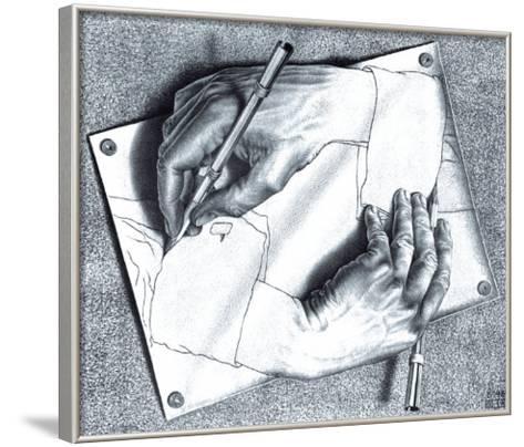 473x404 Drawing Hands Art Print By M. C. Escher