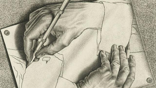640x360 M.c. Escher, Drawing Hands, 1948 The M.c. Escher Company B.v.
