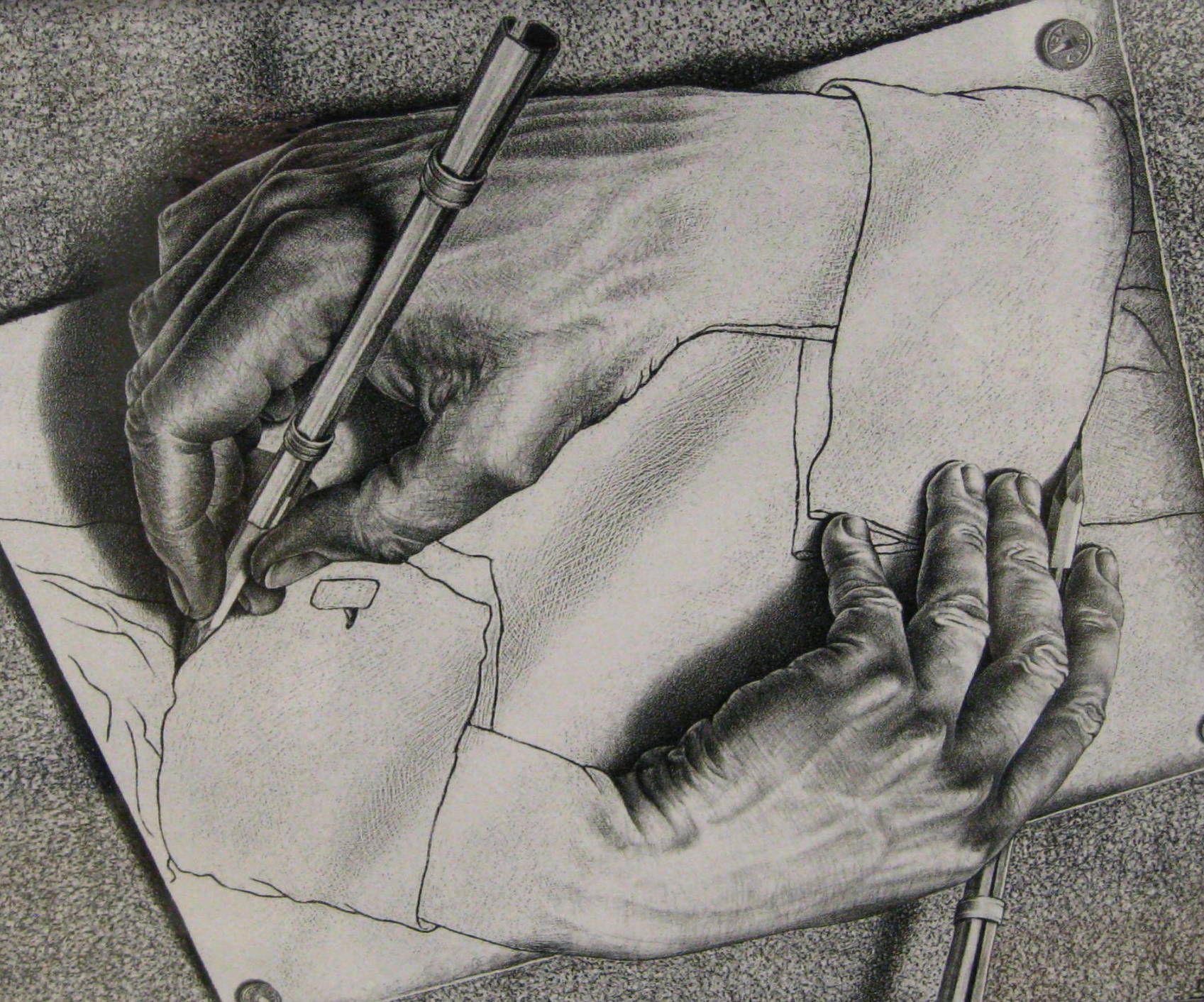 1697x1412 M.c. Escher Hands Drawing Hands (Optical Illusion Art). Shared By